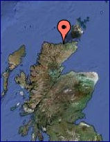 Go to Google Map for exact location on Scotland's North Atlantic Coast